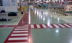 Epóxy em piso industrial