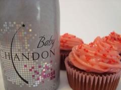 Cupcake, espumante, kit natal, recife, personalizado, aniversario, decorado, mini bolo, gourmet, cereja, casamento, chandon