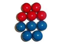 Bola mata mata  54mm azul vermelha