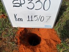 Implantação de faixas adicionais e marginais entre o km 113 ao km 120 na rodovia anhanguera(autoban) - sondagem a trado