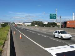 Implantação de faixas adicionais entre o km 62 ao km 71 na rodovia anhanguera(autoban) - vista geral