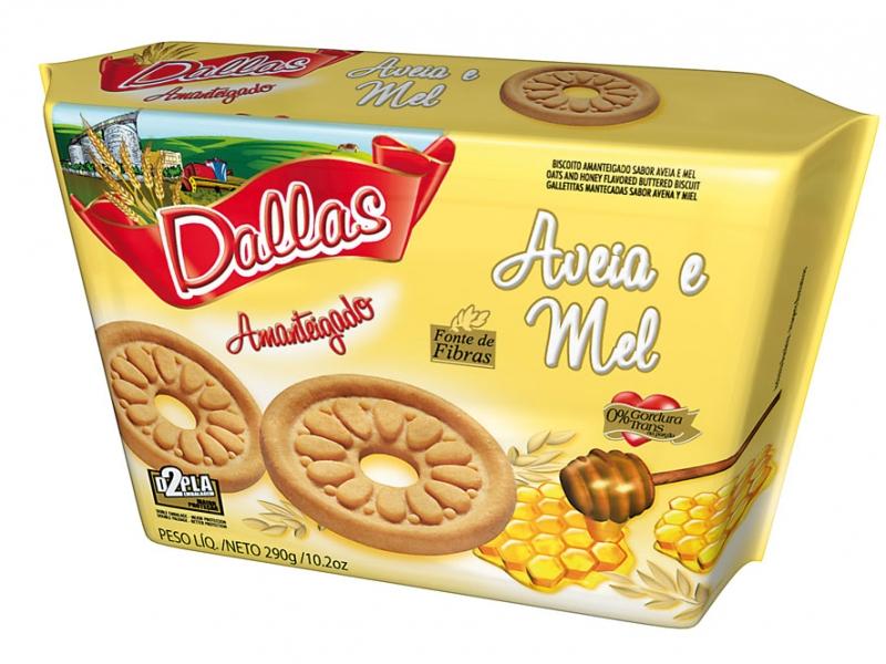 Embalagem Biscoito Amanteigado Dallas