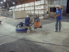 Lapidação de piso diamantada