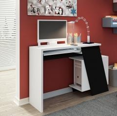 Mesa para computador smart branco com preto