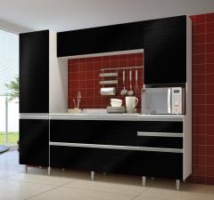 Cozinha victória branco com preto textura