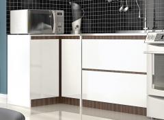 Cozinha l�via branco com oliva bp detalhe balcoes