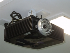 instalação de projetores