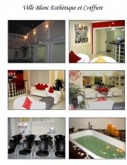 Ville blanc fachada externa,  recepção, lavatórios e ofurô