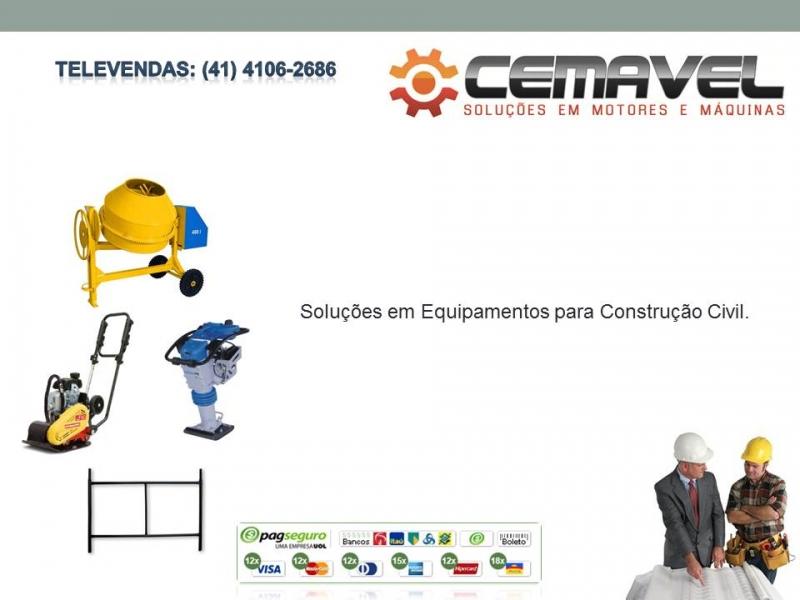Cemavel - Rebobinamento de Motores Elétricos, Compra e Venda de Motores Elétricos Usados, Equipamentos para Construção Civil