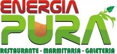 Logomarca da marmitaria energia pura