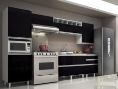 Cozinha melissa branco com preto textura