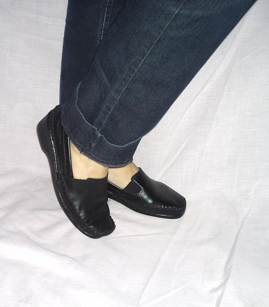 1043836a40 Foto  Sapato mocassim feminino com salto anabela