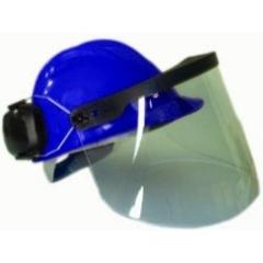Capacete acoplado com protetor facial e abafador de ruído