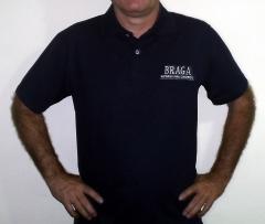 Camisa polo masculina para uso profissional