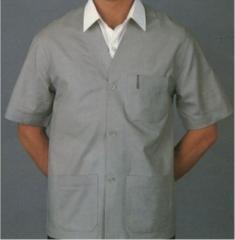 Jaleco manga curta sem gola, para uso profissional