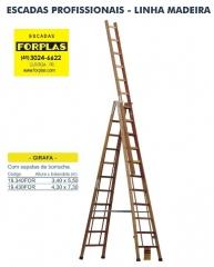 Escada girafa em madeira, 2 tamanhos