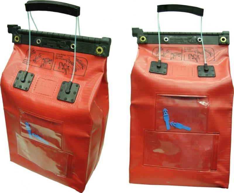 Malote de segurança confeccionado em PVC, 100% seguro, malote Ballzip fechado por lamina plik