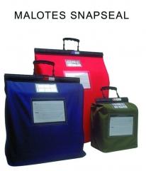 Malotes de segurança reutilizaveis snapseal, pesa 1 kilo a menos que os malotes de lona convencionais