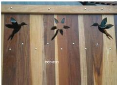 Cala boca arte em madeira - port�es de madeira