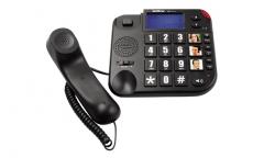 Telefône com fio e com bina (numeros grandes)
