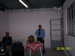 Culto de ações de graças realizado em sala de aula do itemol