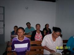 Culto de a��es de gra�as realizado em sala de aula do itemol