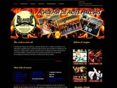 Webiste academia blaster em paulínia/sp