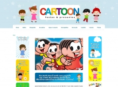 Layout e website cartoon