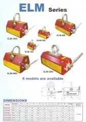 Levantadores magneticos -  serie lm  capacidade de carga de 100 a 3000kg