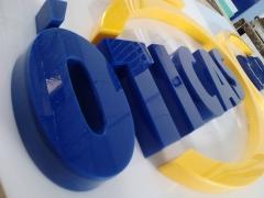 Placa Em Acrílico Óticas Boris - Fortaleza - Letra Caixa Em Acrílico