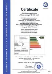 Certificado de economia de energia