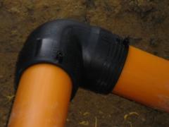 Tubulação de polietileno (pead) 4'.  para rede de : (gás) soldagem por ( eletrofusÃo ).