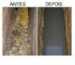 Caixa de  gordura  asnyes e depois de tratada