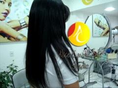 Visão lateral do mega hair tel 3368-3579