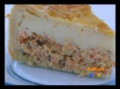 Diversos sabores de tortas salgadas