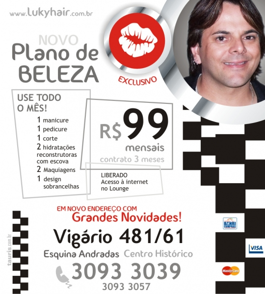 Salão e Estética Luky Vieira Hair Porto Alegre, Centro Histórico www.lukyhair.com.br