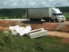 Blocos de isopor para estradas
