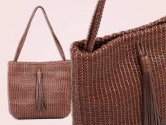 Bolsas femininas em couro tressê - kabupy
