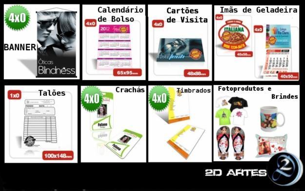 Alguns produtos da nossa parte gráfica