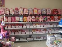 Cadernos e mochilas das principais marcas e de diversas licenças.