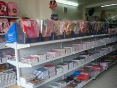 Cadernos e ficharios das principais marcas e de diversas licenças.