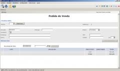 Tela de Emissão de Pedido FaciNet.com.br