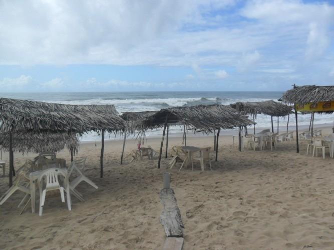 Praia em Siribinha, muito limpa...