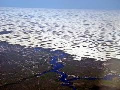 Vista aérea - parque nacional dos lençois maranhense