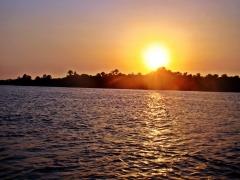 Por do sol rio pregui�a