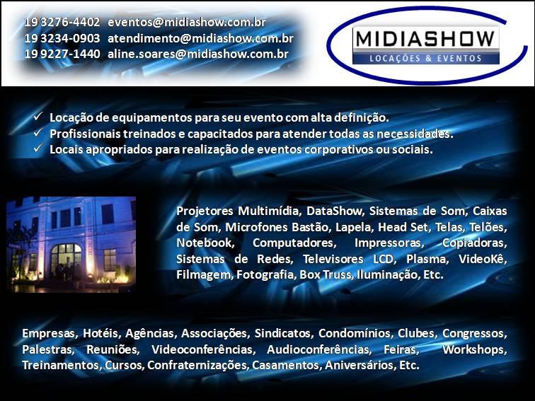 Pense no seu evento. Pense MidiaShow!