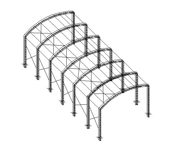 Emito ART e Memória de Cálculo para Telhado em Arco
