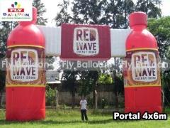 Fly balloon balões e infláveis promocionais - portal / portico inflavel
