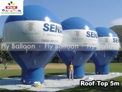 Fly balloon balões e infláveis promocionais - baláo inflavel roof top