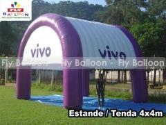 Fly balloon baloes e inflaveis promocionais - stand infl�vel promocional